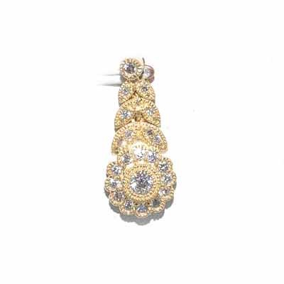 0,45 ct diamant og guldhalskæde