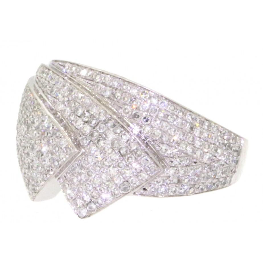 2,00 ct. designer diamant ring.