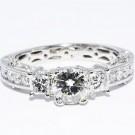 1,00 ct. diamant ring VS.