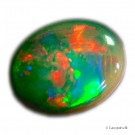 Unik 0,76 ct AUSTRALIAN SOLID BLACK LIGHTNING RIDGE OPAL