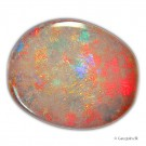 Unik og stor 3,80ct AUSTRALIAN SOLID BLACK LIGHTNING RIDGE OPAL